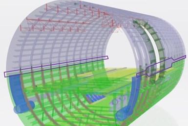 Clean Sky 2 Multifunctional Fuselage Demonstrator intermediate design showing longitudinal joint