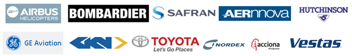 Synthesites commercial customers include Safran Aernnova GKN Vestas Nordex Toyota Airbus