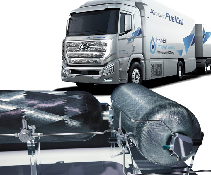 Faurecia to supply composite hydrogen storage tanks for Hyundai heavy trucks