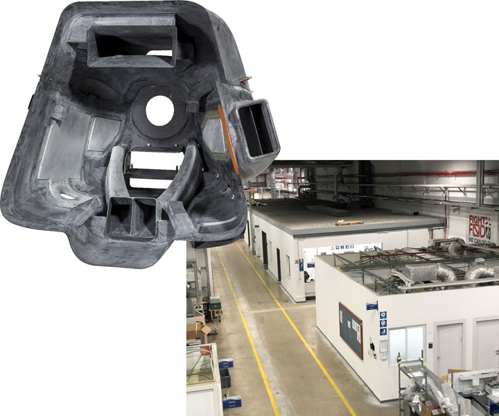 Kanfit hybrid composite and metal UAV engine cowling and new factory