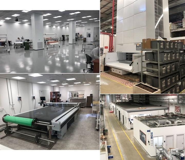 Kanfit production areas layup cutting automated parts storage