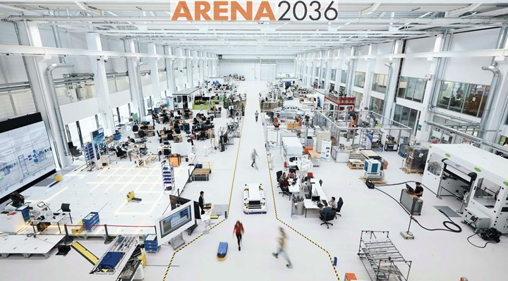 ARENA2036 workshop hall at the University of Stuttgart
