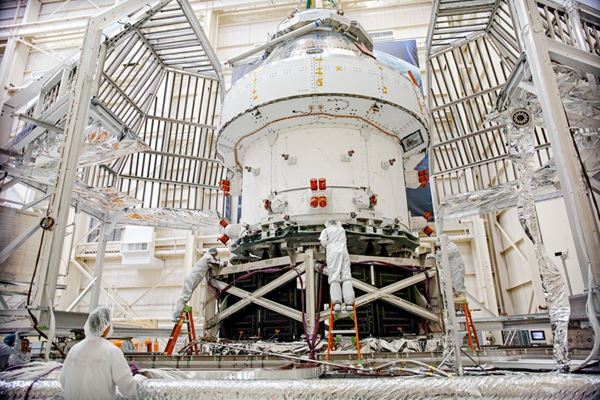 Orion spacecraft successfully completes major testing image