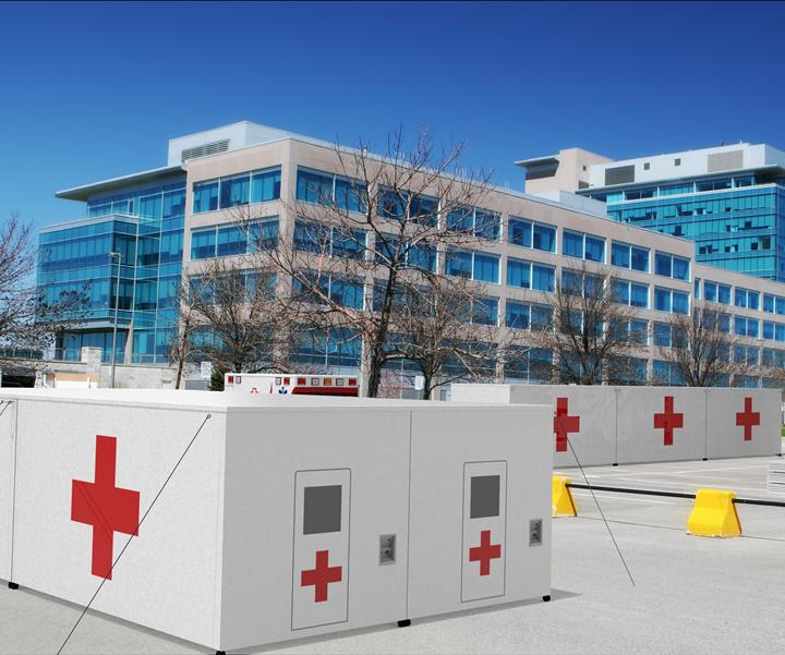 composite emergency shelter to combat coronavirus pandemic