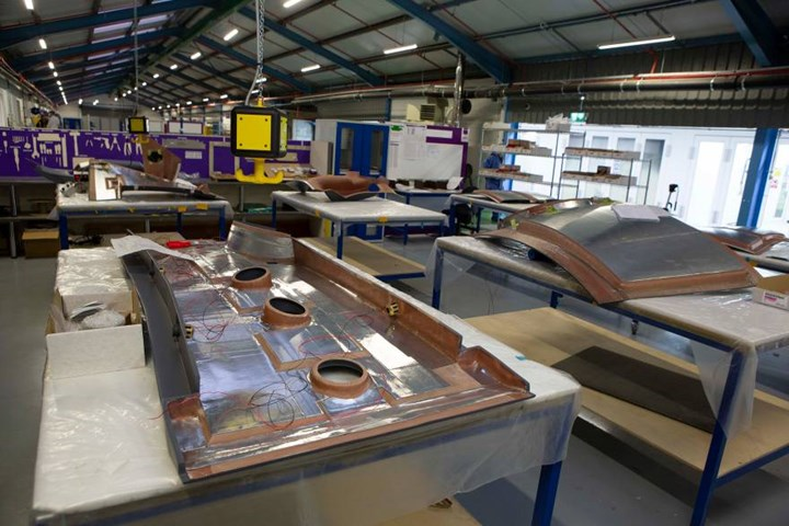 Marshall Advanced Composites production of Nomex honeycomb glass fiber/phenolic panels for C-130 cockpit