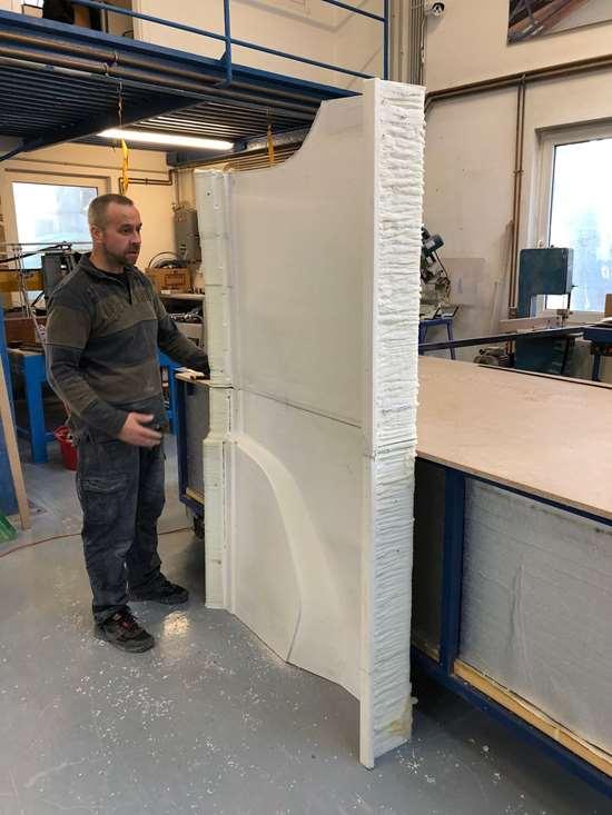 3D printed glass fiber polypropylene sideskirt mold piece