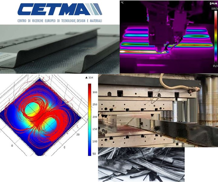 CETMA logo infrared thermography of induction welding continuous compression molding computer simulation
