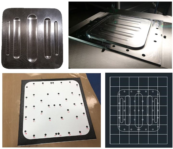 RAPM-001 beaded access panel thermocouple placement on tool faces