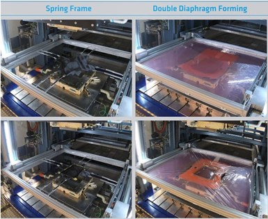 spring-frame molding and double diaphragm forming process images