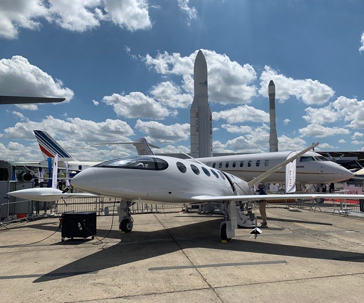 Alice all-electric aircraft at the Paris Air Show