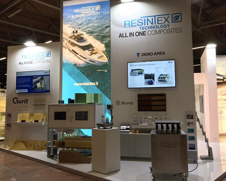 Resintex booth at COMPOTEC 2020 in Italy