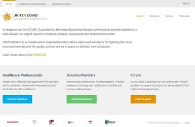 UNITE4COVID website