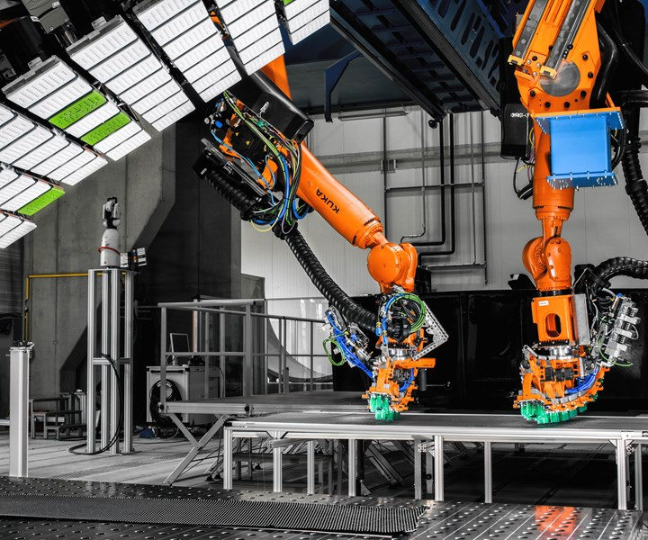 ZLP automated AI-equipped robotic work cell for CFRP aerostructures