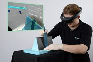 Augmented reality system facilitates FRP component preforming