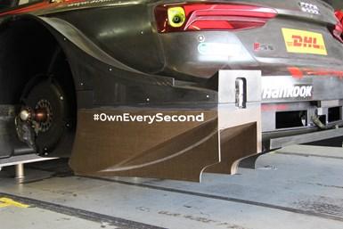 DTM Bcomp natural fiber shoebox being tested by Audi