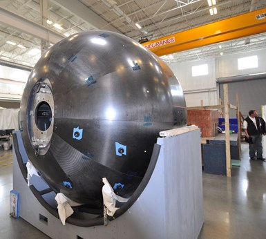 Janicki produced tools for NASA composite cryotank development