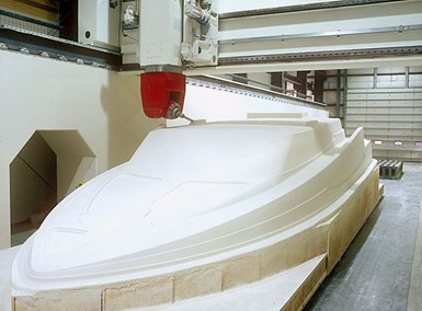 Janicki CNC machining pattern for marine tooling