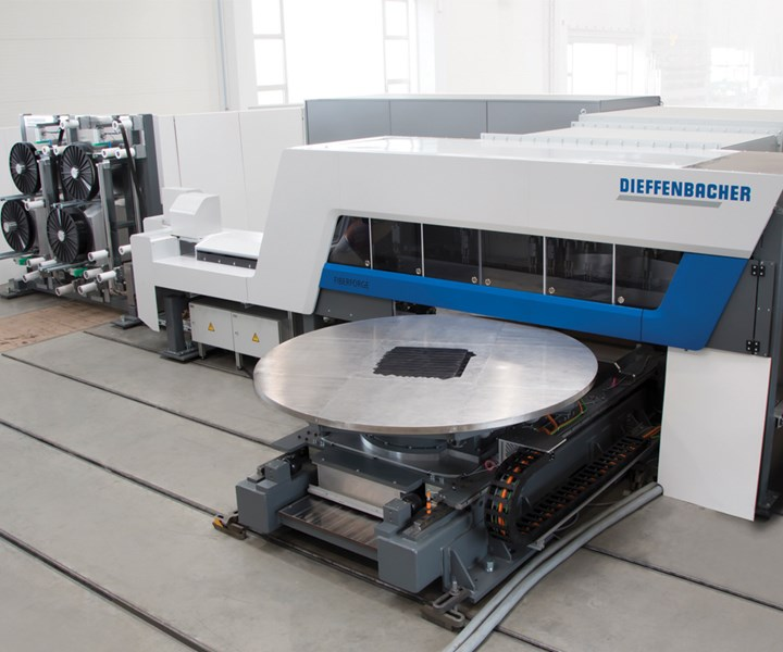 Dieffenbacher new Fiberforge 4.0 automated preforming system