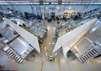 Leonardo Aerostructures produces composite horizontal stabilizers for Boeing 787