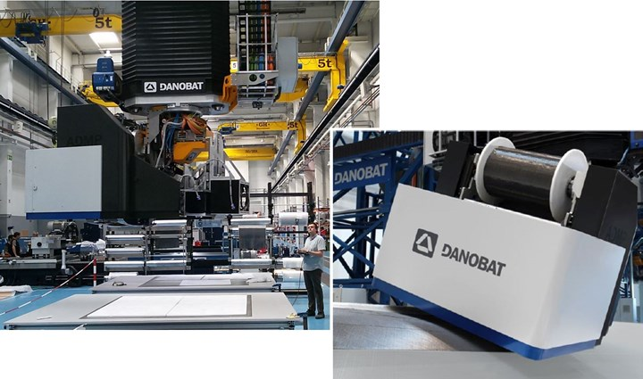 Automated dry material placement ADMP layup at Danobat