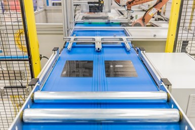 Airborne developed bespoke automated thermoplastic composite production line for SABIC