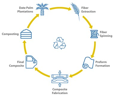 bioeconomy of date palm fiber composites