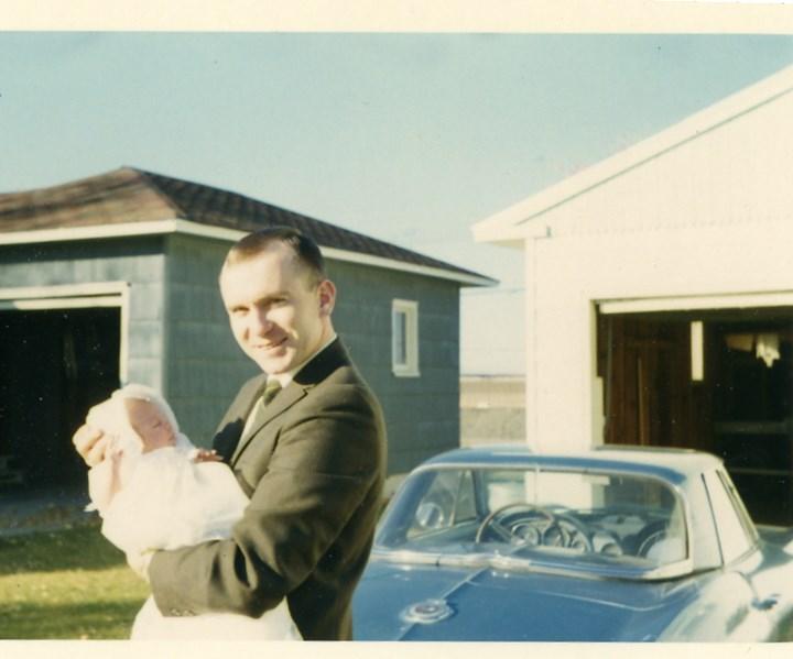 Father-in-law with newbord 1966 Corvette