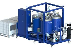 Covestro machine developed for direct infusion of polyurethane rotor blades