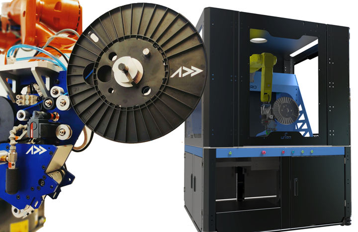 Addcomposites AFP-XS and Effman automated cell