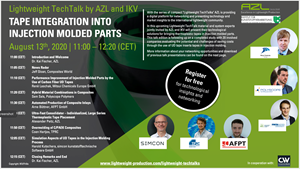 AZL Aachen webinar: Tape integration into injection molding