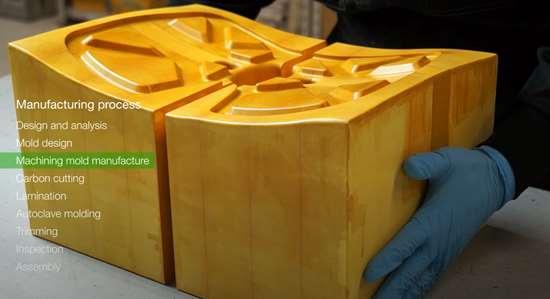 C-FREX carbon fiber composite exoskeleton CNC-machined mold