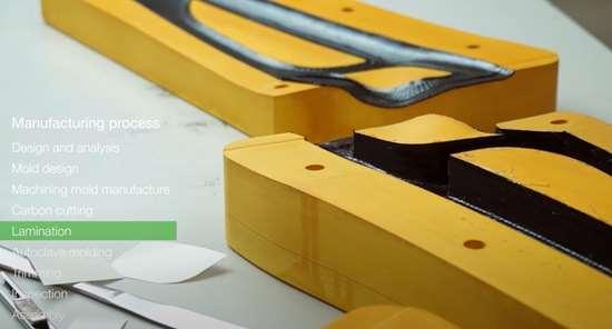 C-FREX carbon fiber composite exoskeleton prepreg layup