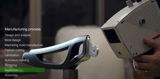 C-FREX carbon fiber composite exoskeleton inspection