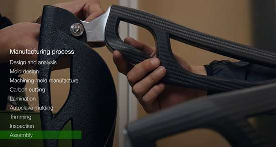 C-FREX carbon fiber composite exoskeleton assembly
