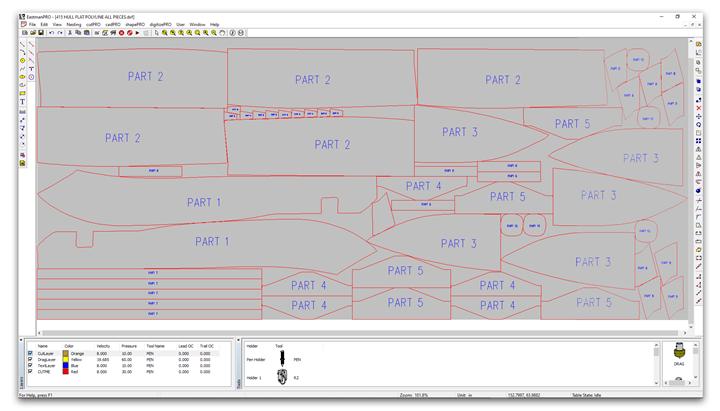 Eastman cutPRO operating control software