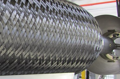 The inner shells of the cylinders are overbraided with carbon fiber.