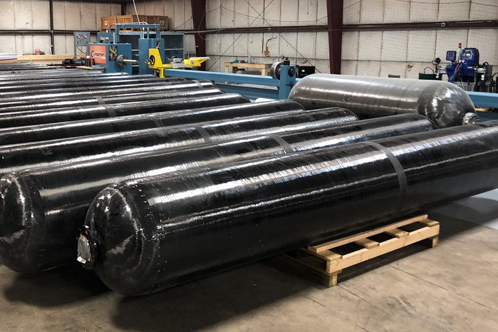 Cimarron Composites cylinders for hydrogen transport