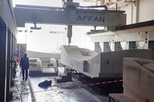 Affan Innovative Solutions CNC machining of molds for composite facade panels