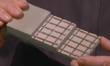 carbon fiber lattice grid for reinforcing concrete