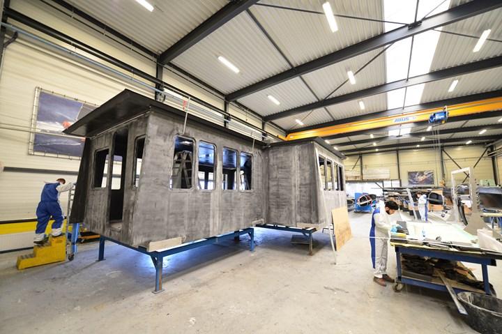Holland Composites CFRP deckhouse for Windcat Workboats