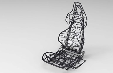 Ultra lightweight seat made using carbon fiber and xFK in 3D winding process