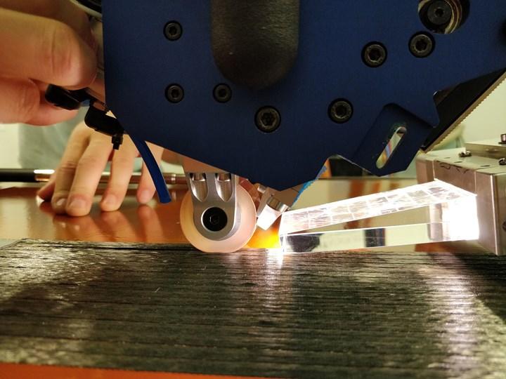 Addcomposites AFP-XS at Compositadour with humm3 flash lamp