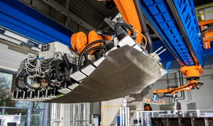 DLR automated carbon fabric layup in PROTEC NSR project