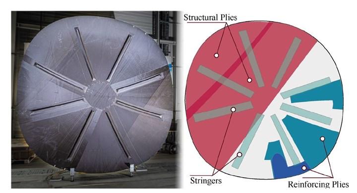 dry carbon fiber preform for DLR PROTEC NSR rear pressure bulkhead