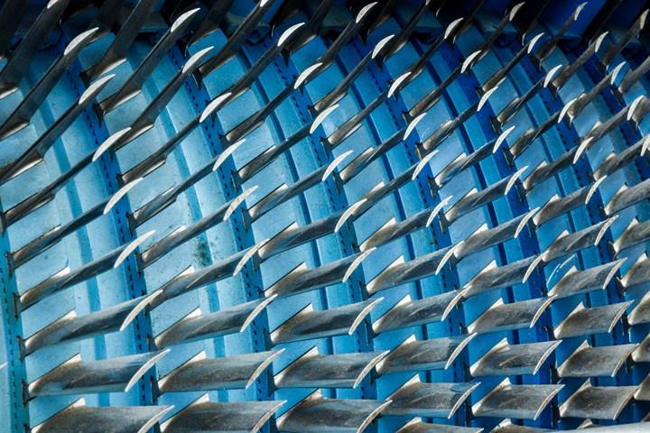 Air compressor turbine blades of an aircraft jet engine