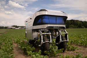Autonomous agricultural robot supported by composite components