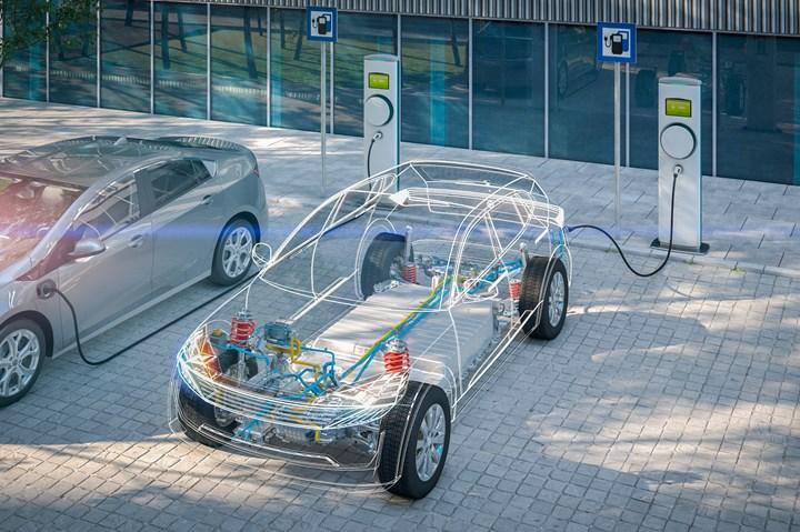 Electric vehicle stock image