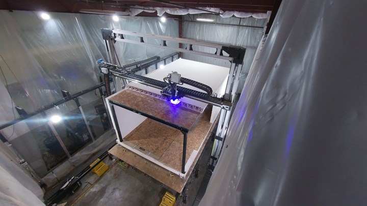 Mighty Buildings composite 3D printing for prefabricated houses