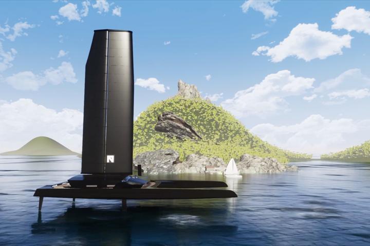 Nemesis carbon fiber yacht