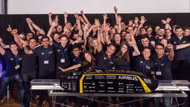 winning composite pod for Hyperloop competition